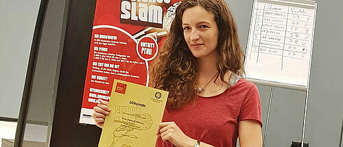 Science Slam Hannah Klinner 3. Platz 2019